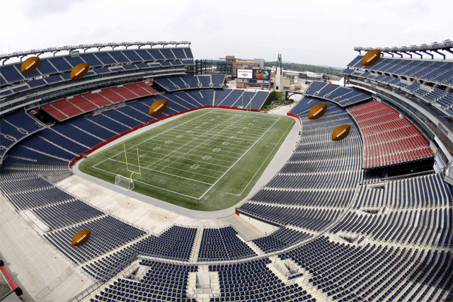 View From Club Seats at Gillette Stadium Gillette Stadium Seating Chart